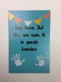 Postkaart cm Dag lieve Juf