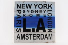 Tekstbord LA 40x40 cm