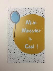 Postkaart cm Mijn Meester is Cool