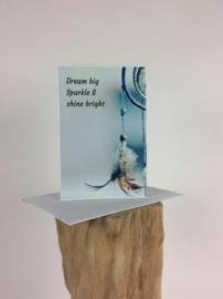Postkaart dubbel incl envl Dream big