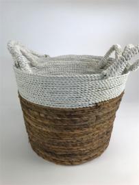 Round Tappered Basket Mand Set 3, 30 h, doorsnee 32/26/22