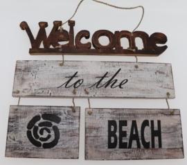 Tekstbord Welcome 43x43 cm