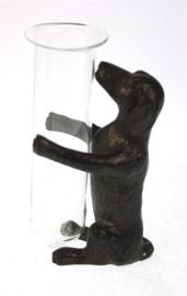 Vaasje Teckel zwart 6,5x4,5x10cm