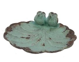 Schaaltje vogeltjes turq. 11x11x4cm