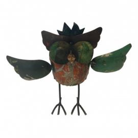 Owl old iron 28xH20cm