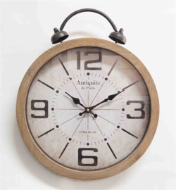Alarm bell wall clock 40x6x48.5cm Glass Cover