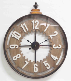 Wall Clock Old with Handle 60*6*73,5cm Glass Cover
