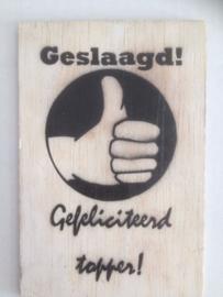 Postkaart Geslaagd