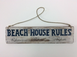Beach bord Beach house rules