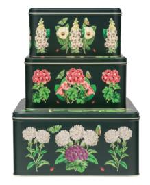 Blikken set (3) Botanisch 24,5x24,5x13cm