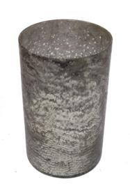 Windlicht zilverkleur rustique Ø15,5xH25cm