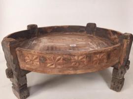 Ronde houten chakki tafel - D75 tot D85 H35