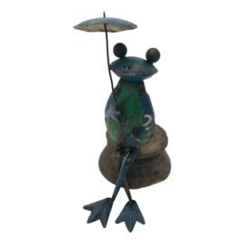 Frog sit. edge umbr.H33cm