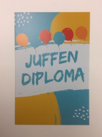 Postkaart cm Juffen Diploma