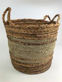 Round Drum Basket Mand Set 2, 37 h, doorsnee 39/35