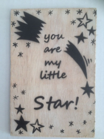 Postkaart You are my little star