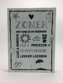 Tekstbord 30x40 cm rand Zomer