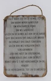 Tekstbord 25x35 cm Onze Vader