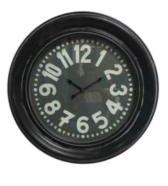 Clock Black Metal Edge & Glass Cover 79x9.5cm