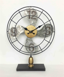Metal Fan clock with digit dia30.5x7.5x39.5cm