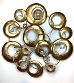 Metal Gold Walldeco Circles 79*10*82