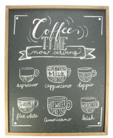 Wandplaat hout Coffee time 50,8x2,4x61cm