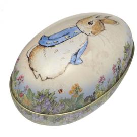 Blikje Peter Rabbit Ei 11x6,5cm