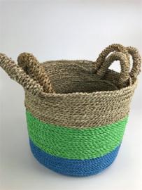 Round Bowl Basket Mand Set 3, 28 h, doorsnee 30/27/24