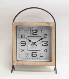 Square wooden/metal digit with handle 34.5x6x23cm