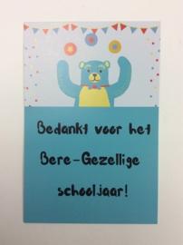 Postkaart cm Bedankt Bere-Gezellige