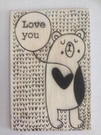 Postkaart Love you