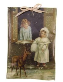 Geurzakje Meisjes met hert (kaneel) 17x11,5cm