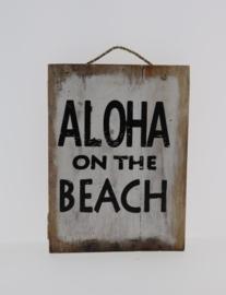 Tekstbord 15x20 cm Aloha Beach