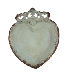 Hart sierschaaltje groen 10,5x1,5x13cm