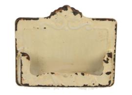 Visitekaarthouder creme 11,5x2,5x9,5cm