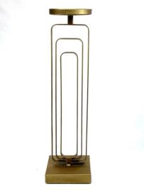 Metal 3 bar Gold Candleholder 14*72cm
