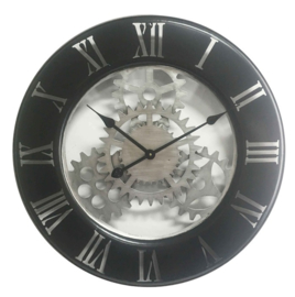 Wall clock close vintage mechanical gear clock dia 63x4.5cm