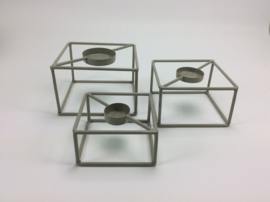T.Light Square set of 3 15x15x10/14x14x8/12x12x6 cm