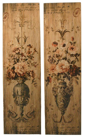 Wandplaat Ornament hout, 2 stuks. 34x2,5x122cm/st