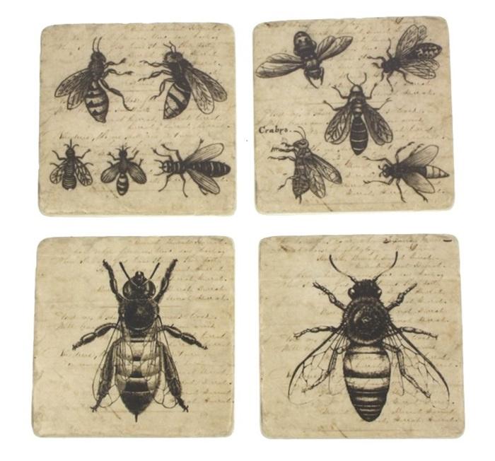 Onderzetters Bijen, s/4 9,5x9,5cm