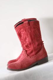 Bronx - Rood suède lederen boots - Mt 38