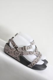 Fitflop - Bruin snake skin lederen sandalen - Mt 40