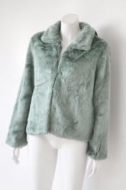 SH Collection - Kort groen faux bont jasje - Mt M / 38