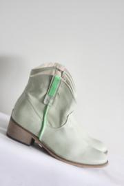 Online Shoes - Zacht groen lederen enkellaarsjes - Mt 38