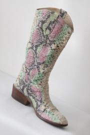 Omoda - Beige gekleurde lederen cowboy boots - Mt 38