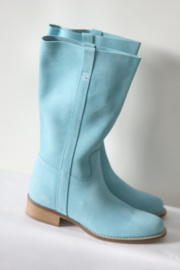 Elizabeth Stuart - Aqua blauw suede laarzen - Mt 38