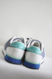 Tommy Hilfiger - Wit blauw lederen sneakers - Mt 33