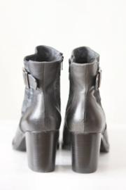 Donna Piu - Donkerblauw lederen boots met gesp - 37, 38, 41 & 42