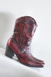 Donna Piu - Rood zwart lederen boots - Mt 39