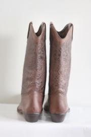 El Chaparral - Bruin lederen cowboy boots - Mt 40